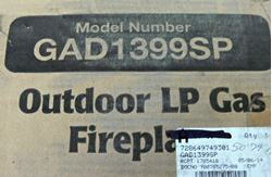 Picture of UNIFLAME GAD1399SP DARK SLATE OUTDOOR 30,000 BTU LP GAS FIREPIT