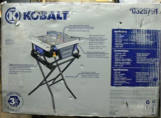 Kobalt Kb7004 7 In Bench Tabletop Tile Saw