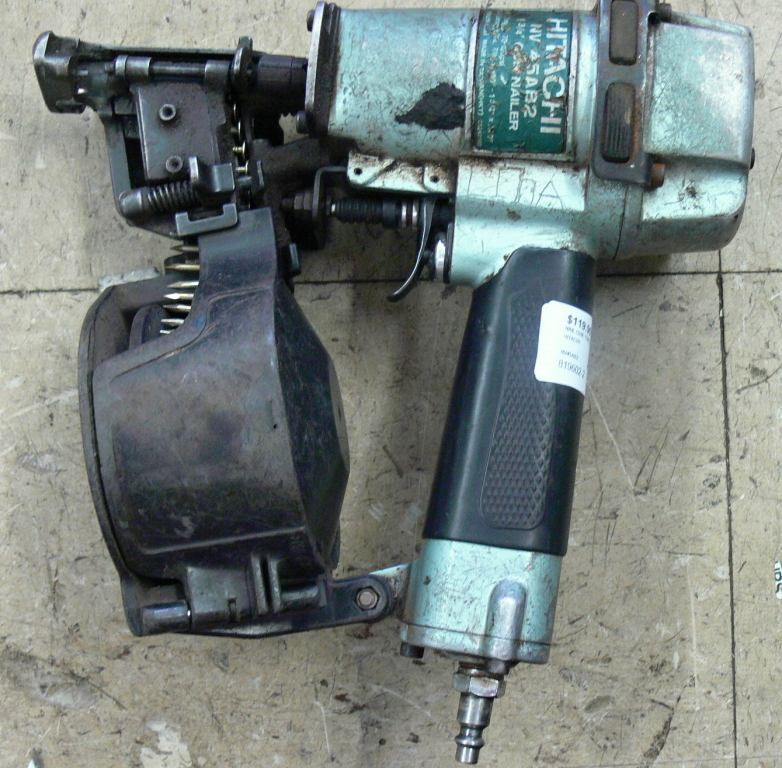hitachi coil nailer. picture of hitachi nv45ab2 1 3/4\ hitachi coil nailer