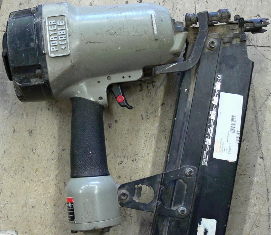 picture of porter cable fr350a round head framing nailer gun