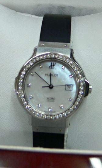 Picture of HUBLOT MDM GENEVE STAINLESS STEEL 20.0 W/ DIAMONDS WATCH