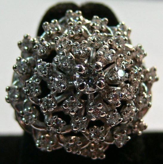 Picture of WHITE GOLD 14K RING WITH DIAMONDS SIZE 6.5