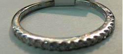 Picture of 14K WHITE GOLD DIAMOND HALF BAND RING