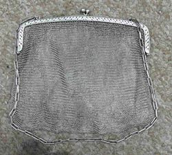 Picture of SILVER PURSE HANDBAG 286 GRAMS VINTAGE