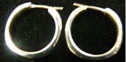 Picture of TIFFANY & CO STERLING SILVER HOOP EARRINGS