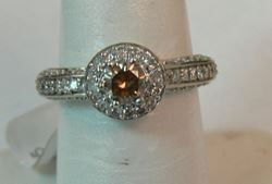 Picture of 10K WHITE GOLD WOMENS DIAMOND RING SZ-7 4.1G
