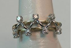 Picture of 18K TWO TONE WHITE/YELLOW GOLD WOMENS DIAMOND RING SZ-5.75 3.8G