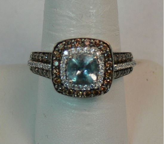 Picture of  14K WHITE GOLD LEVIAN COLLECTION DIAMOND RING SZ-7.25 7.3G