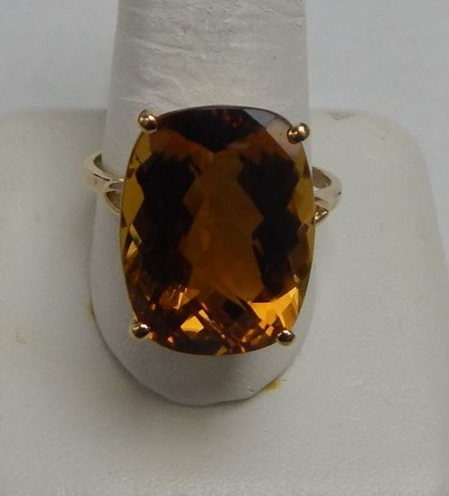 Cash Usa Pawnshop 10k Yellow Gold Light Brown Stone Ring