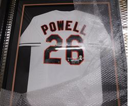 Picture of BOOG POWELL SIGNED FRAMED JERSEY WITH C.O.A.