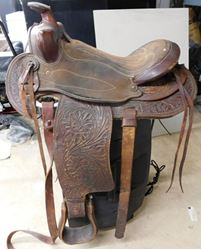 Picture of LEATHER HORSE SADDLE