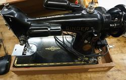 Picture of The Singer Manufacturing and CO Sewing Machine model #AF148399 with case