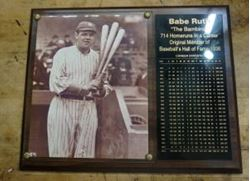 "Picture of BABE RUTH ""THE BAMBINO"" CAREER STATISTICS PLAQUE"