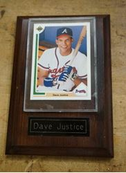 Picture of   Dave-Justice-plaque-with-card-Rare-BEST-OFFER