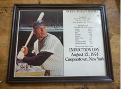 "Picture of Mickey Charles Mantle Induction Day August 12, 1974 8""x10"" Photo Baseball"