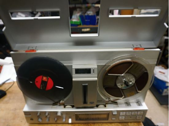 Picture of VINTAGE AKAI GX-77 4 TRACK STEREO TAPE DECK WITH EXTRA REELS