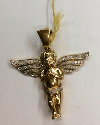 Picture of 10kt yellow gold angel pendant 12.4 gr