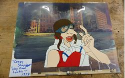 "Picture of CRAZY SHAPIRO ""HEY GOOD LOOKIN"" 1978 ANIMATION CEL W BACKGROUND 13.5X10.5 GOOD CONDITION. COLLECTIBLE."