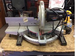 """Picture of Delta sidekick 12"""" compound miter saw used tested in a good working order ."""