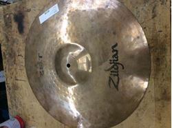 "Picture of Cymbal musical instrument Zildjian 18"" zbt rock crash symble pre owned.in a good working order. 850740-1."