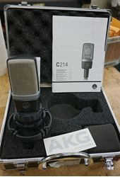 Picture of AKG Pro Audio C214 Professional Large-Diaphragm Condenser Microphone. USED. TESTED. IN A GOOD WORKING ORDER.