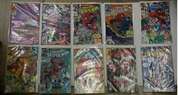Picture of LOT 10 MARVEL THE AMAZING SPIDER MAN COMICS  335 LATE JULY; 334 EARLY JULY; 343 JANUARY; 344 FEBRUARY; 345 MARCH; 346 APRIL; 347 MAY;348 JUNE; 350 AUGUST; 349 JULY. MINT. COLLECTIBLE.