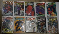 Picture of LOT 10 THE AMAZING SPIDER MAN MARVEL COMICS 280 SEPTEMBER; 321 EARLY OCTOBER; 320 LATE SEPTEMBER; 304 EARLY SEPTEMBER; 305 LATE SEPTEMBER; 307 LATE SEPTEMBER; 271 DECEMBER; 294 NOVEMBER; 293 OCTOBER; 290 JULY. VERY GOOD. COLLECTIBLE.