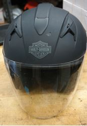 Picture of HARLEY DAVIDSON MOTORCYCLE HELMET BLACK W LIFT FACE SHIELD; SUN PROTECTION.SMALL. PRE OWNED. VERY GOOD CONDITION.