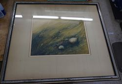 "Picture of FRAMED PICTURE ""UNDER WAVE "" BY ARTIST SCOTT WILSON FREE SHIPPING"