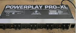 Picture of Behringer Powerplay Pro-XL HA4700 4-Channel Headphones Distribution Power Amplifier USED. TESTED . IN A GOOD WORKING ORDER.