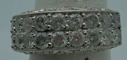 Picture of 14KT WHITE GOLD LADIES BAND 8.2GR 2.5 CARAT OF DIAMONDS SIZE 7.5 PRE OWNED. VERY GOOD CONDITION.850416-2
