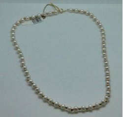 Picture of 14KT YELLOW NECKLACE WITH 4MM PEARLS AND GOLD BALLS IN BETWEEN 18 INCHES LONG 13.1GR PRE OWNED VERY GOOD CONDITION 816096-3