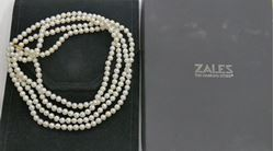Picture of ZALES 64 INCHES LONG PEARL ( 6.25 MM) NECKLACE W 14KT YELLOW GOLD LOCK & BOX