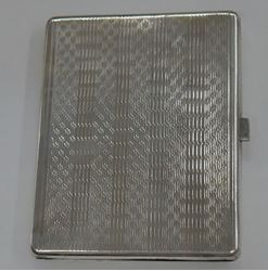 Picture of STERLING SILVER 800 CIGARETTE CASE 54.9 GRAMS 3.5 X 3 VINTAGE. VERY GOOD CONDITION.