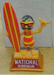 Picture of NATIONAL BOHEMIAN NATTY BOH BEER BUBLE HEAD STATUE 422 OF 500 COLLECTIBLE. VERY GOOD CONDITION.
