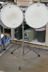 Picture of 2 TAMA TOM DRUMS 15X12; 16X14 WITH TAMA TITAN STAND PRE OWNED. TESTED. IN A GOOD WORKING ORDER.