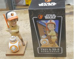 Picture of Star Wars Baltimore Orioles TREY MANCINI & BB-8 2019 Bobblehead New.