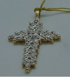 Picture of 10kt white gold cross pendant with 0.15pts diamonds 2.1 grams 827549-3